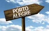 Porto Alegre, Brazil wooden sign — Stock Photo