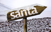 Santa wooden sign — Stock Photo