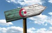 Algeria wooden sign — Stock Photo