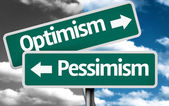 Optimism x Pessimism creative sign — Foto Stock
