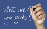 What are your goals hand writing — Stock Photo