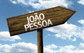 Joao Pessoa, Brazil wooden sign — Foto de Stock