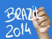 Brazil 2014 hand writing — ストック写真