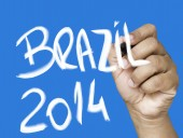 Brazil 2014 hand writing — Stock fotografie