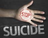 Stop Suicide on the blackboard — Stock Photo