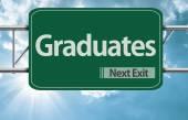Graduates road sign — Stock Photo