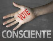 Conscience Vote on the blackboard — Stock Photo