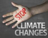 Message Stop Climate Changes — Stock Photo