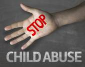 Message Stop Child Abuse — Stock Photo