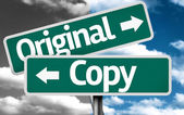 Original x Copy creative sign — Stock Photo