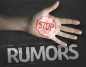Stop Rumors on the blackboard — Stock Photo
