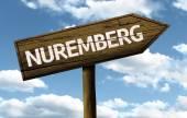 Nuremberg, Germany wooden sign — Stock Photo
