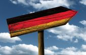 Germany flag wooden sign — Stockfoto