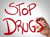 """""""Stop Drugs"""" Hand writing — Foto Stock"""