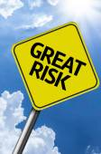 Great Risk creative sign — Stockfoto