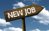 New Job creative sign — 图库照片