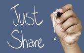 Just Share hand writing — Stock Photo