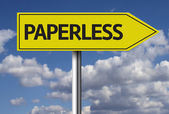 Paperless Creative sign — Stock Photo