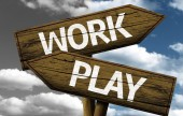 Work x Play creative sign — Stock Photo