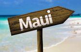 Maui, Hawaii träskylt — Stockfoto