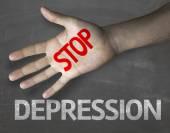 Message Stop Depression — Stock Photo