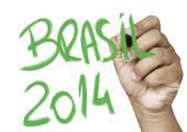 Brasil 2014 hand writing — Φωτογραφία Αρχείου