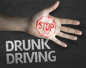 Stop Drunk Driving on the blackboard — Stock Photo