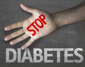Message Stop Diabetes — Stock Photo