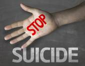 Message Stop Suicide — Stock Photo