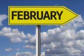 February sign — ストック写真