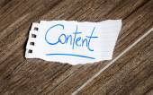 Content written on the paper — Stock Photo