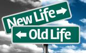 New Life x Old Life creative sign — Foto Stock
