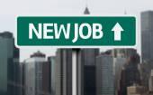 New Job creative sign — Stock Photo