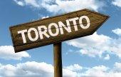 Toronto, Canada wooden sign — Stock Photo