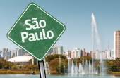 Sao Paulo Sign on Ibirapuera Park — Stock Photo