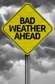 Bad Weather Ahead Creative sign — Stock Photo