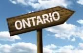 Ontario, Canada wooden sign — Stockfoto