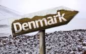 Denmark wooden sign — Stock Photo