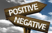 Positive x Negative creative sign — Stock Photo