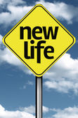 New Life creative sign — Stock Photo