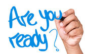 Are You Ready written — Stock Photo