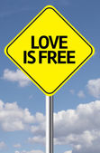 Love is Free Creative sign — Stock Photo
