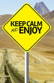 Keep Calm and Enjoy Creative sign — Stock Photo