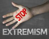 Extremismus an die Tafel zu stoppen — Stockfoto