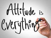 Attitude is everything hand writing — Foto Stock