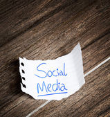 Social Media written on the paper — Stock Photo