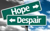 Hope x Despair creative sign — Stock Photo