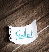 フィードバック、紙に書かれました。 — ストック写真