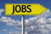 Jobs road sign — Stock Photo