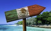 Mexiko flagga träskylt — Stockfoto